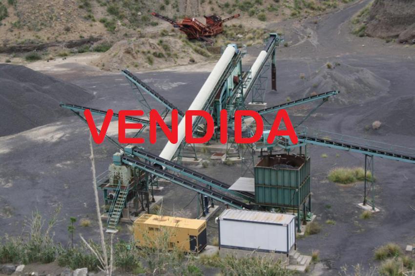 Instalación trituración:  270 Tn/h