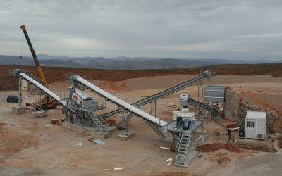 Instalación para producción de arenas 0-4mm